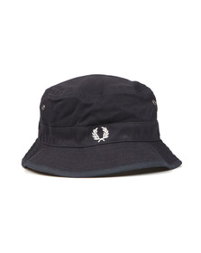 Fred Perry Mens Blue Reversible Fisherman's Hat