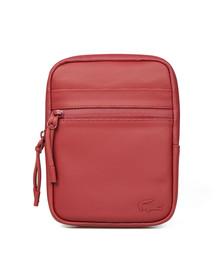 Lacoste Mens Red S Flat Crossover Bag