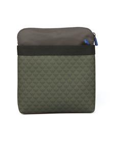 Emporio Armani Mens Green Logo Print Shoulder Bag