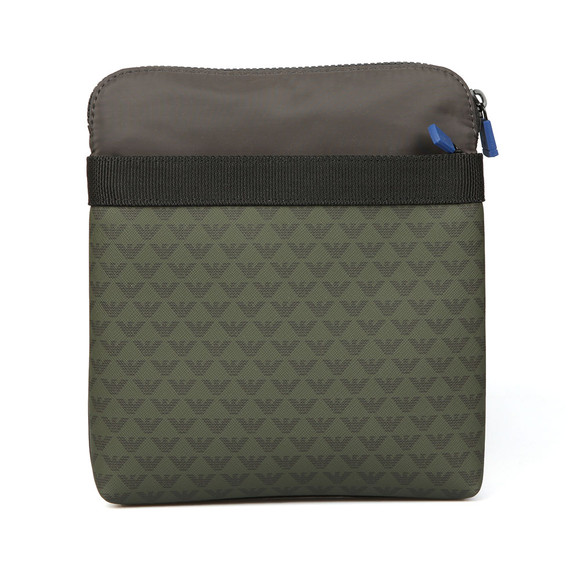 Emporio Armani Mens Green Logo Print Shoulder Bag main image