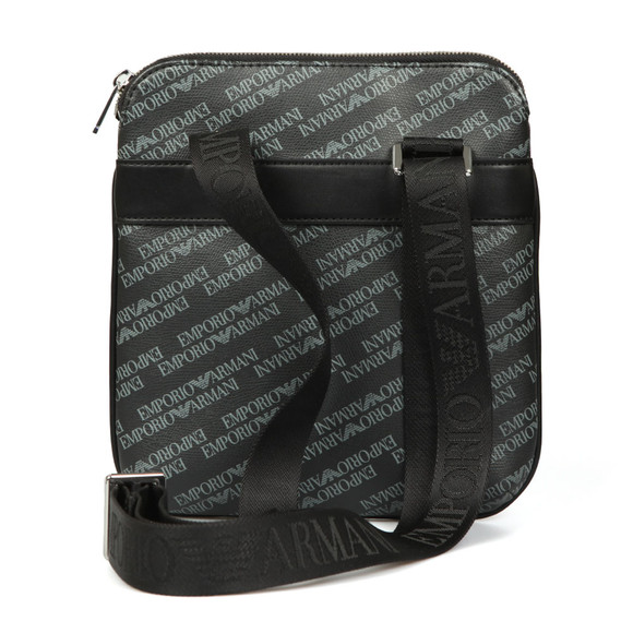 Emporio Armani Mens Black Allover Print Shoulder Bag main image