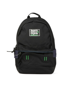 Superdry Mens Black Binder Montana Rucksack