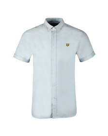 Lyle and Scott Mens Blue S/S Oxford Shirt