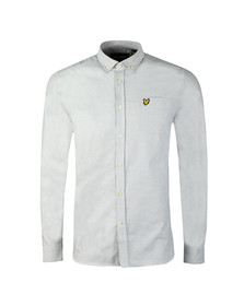 Lyle and Scott Mens Grey L/S Oxford Shirt