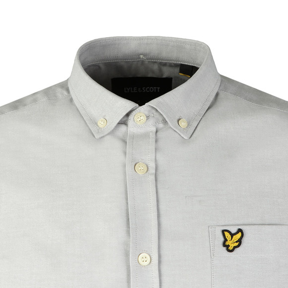 Lyle and Scott Mens Grey L/S Oxford Shirt main image