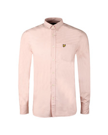 Lyle and Scott Mens Pink L/S Oxford Shirt