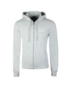EA7 Emporio Armani Mens Grey Arm Logo Full Zip Hoody