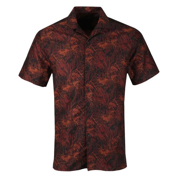 J.Lindeberg Mens Black David T Jacquard Shirt