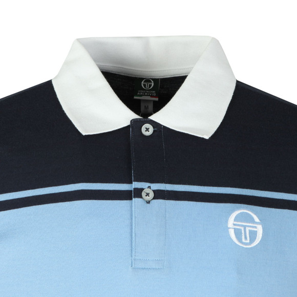Sergio Tacchini Mens Blue New Young Line Polo Shirt main image