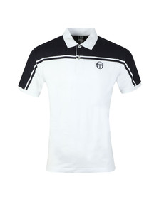 Sergio Tacchini Mens White New Young Line Polo Shirt