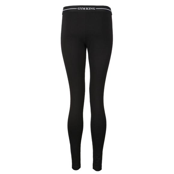 Gym King Womens Black Jacquard Legging main image