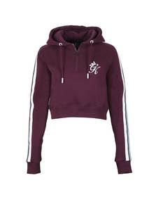 Gym king Womens Purple Cullman Crop Hoody