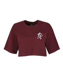 Gym king Womens Red Kourtney Crop T Shirt