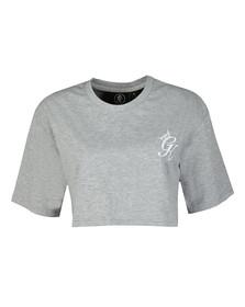 Gym king Womens Grey Kourtney Crop T Shirt