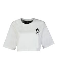 Gym king Womens White Kourtney Crop T Shirt