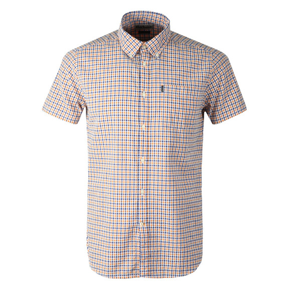 Barbour Lifestyle Mens Orange S/S Newton Shirt main image