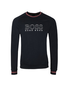 BOSS Mens Blue Authentic Large Logo Sweatshirt