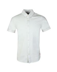 Calvin Klein Jeans Mens White S/S Wilbens Shirt