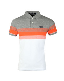 Superdry Mens Grey Classic SS Longbeach Polo