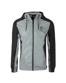 Gym king Mens Black Reflective Windbreaker