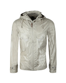 Pretty Green Mens Grey Zip Through Hooded Jacket