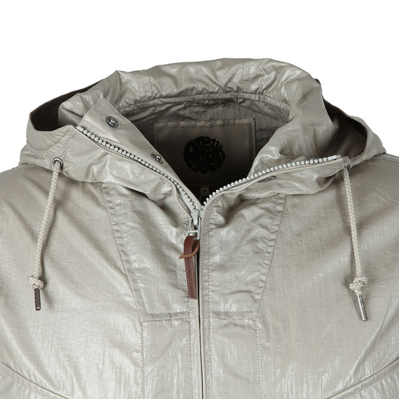 Pretty Green Mens Grey Zip Through Hooded Jacket main image