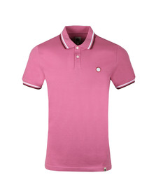 Pretty Green Mens Pink S/S Pique Polo