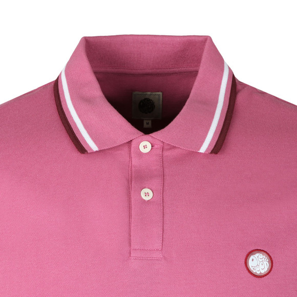 Pretty Green Mens Pink S/S Pique Polo main image