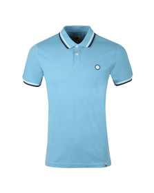 Pretty Green Mens Blue S/S Pique Polo