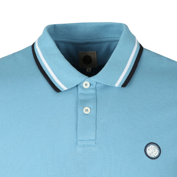 Pretty Green Mens Blue S/S Pique Polo main image