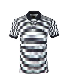 Pretty Green Mens Blue S/S Feeder Stripe Polo Shirt