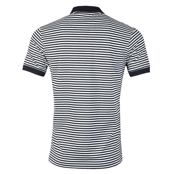 Pretty Green Mens Blue S/S Feeder Stripe Polo Shirt main image