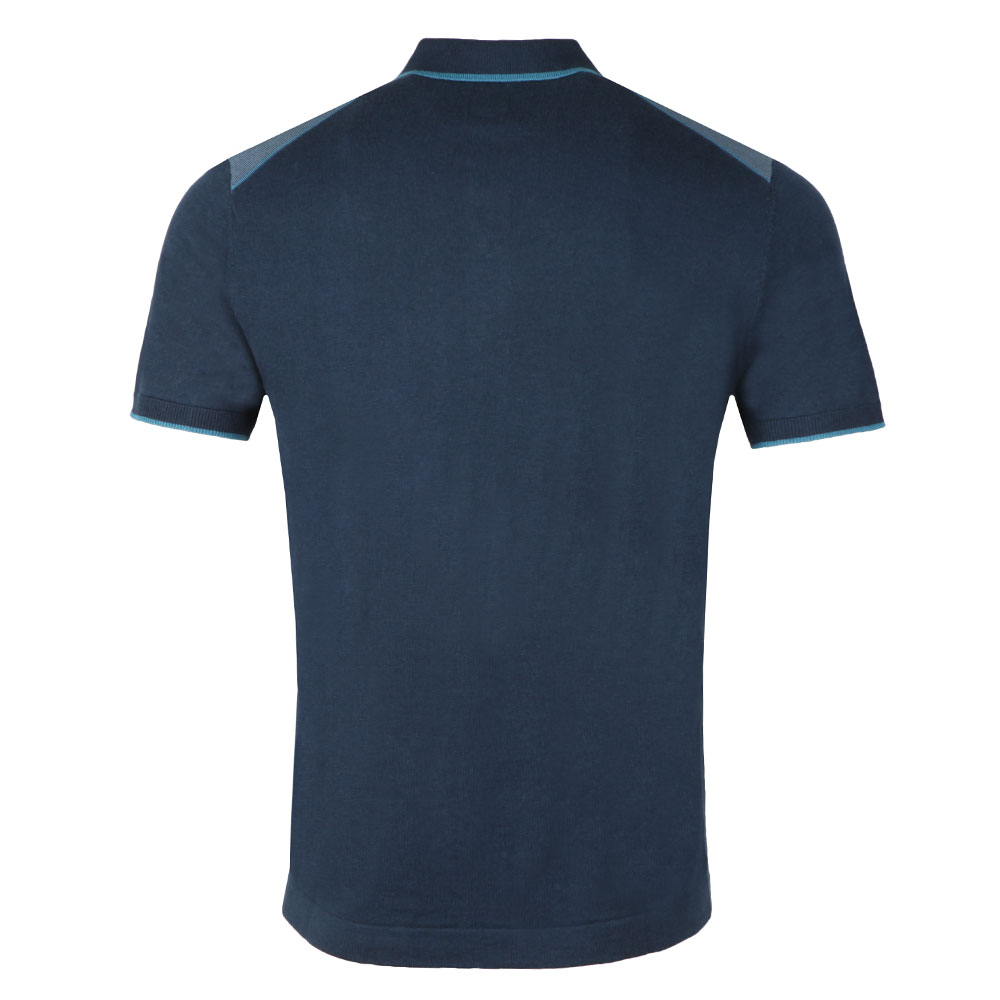 Contrast Panel Knitted Polo Shirt main image