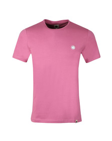 Pretty Green Mens Pink S/S Mitchell Tee