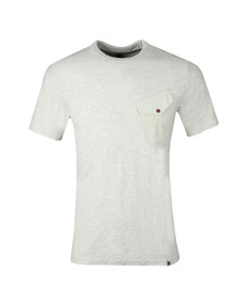 Pretty Green Mens Beige Slub Marl Twill Pocket Tee