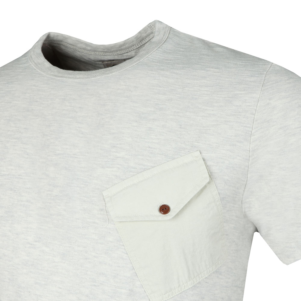 Slub Marl Twill Pocket Tee main image