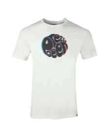 Pretty Green Mens White 3D Print Logo Tee