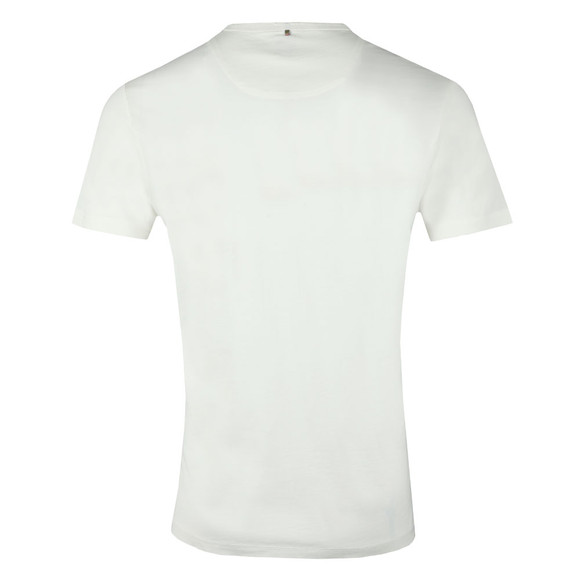 Pretty Green Mens White 3D Print Logo Tee main image