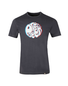 Pretty Green Mens Black 3D Print Logo Tee