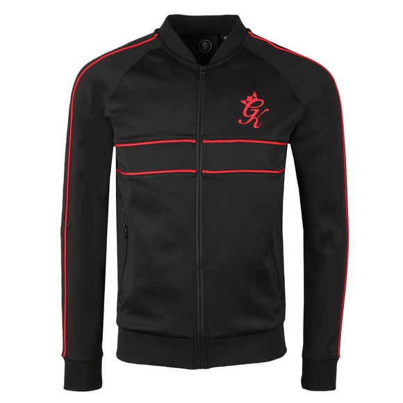 Gym King Mens Black Piped Baseball Jacket main image