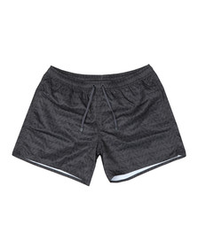 EA7 Emporio Armani Mens Black Allover Eagle Swim Short