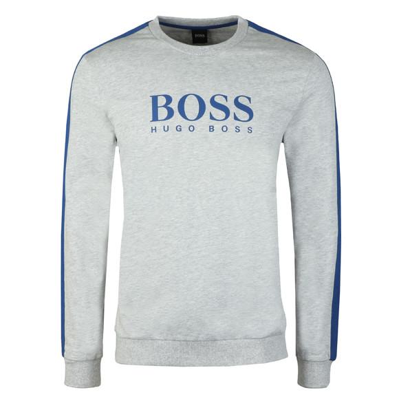 BOSS Loungewear Mens Grey Authentic Large Logo Sweatshirt main image