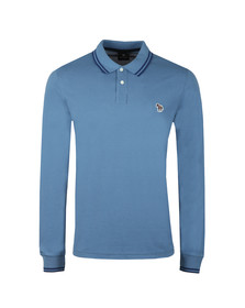 PS Paul Smith Mens Blue L/S Tipped Polo Shirt