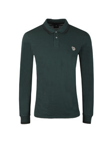 PS Paul Smith Mens Green L/S Tipped Polo Shirt