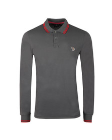 PS Paul Smith Mens Grey L/S Tipped Polo Shirt