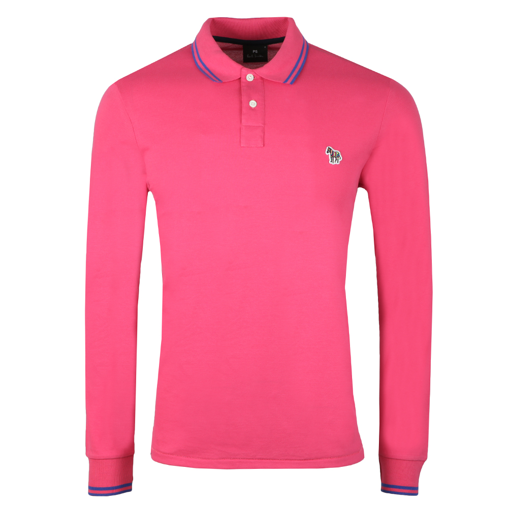 Ps Paul Smith Ls Tipped Polo Shirt Oxygen Clothing