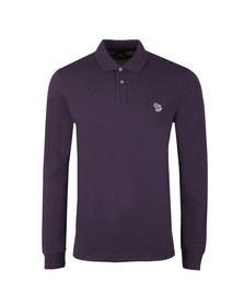 PS Paul Smith Mens Purple Zebra LS Polo Shirt