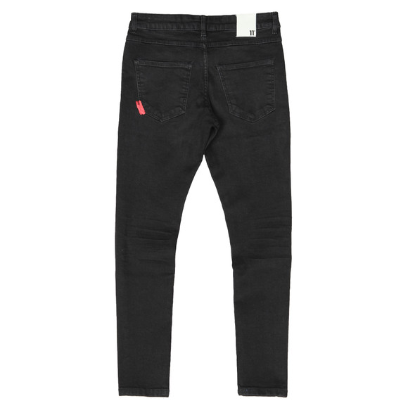 Eleven Degrees Mens Black Essential Skinny Jean main image