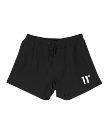 Eleven Degrees Mens Black Core SwimShort
