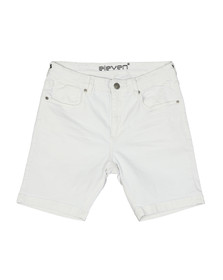 Eleven Degrees Mens White Essential Skinny Short